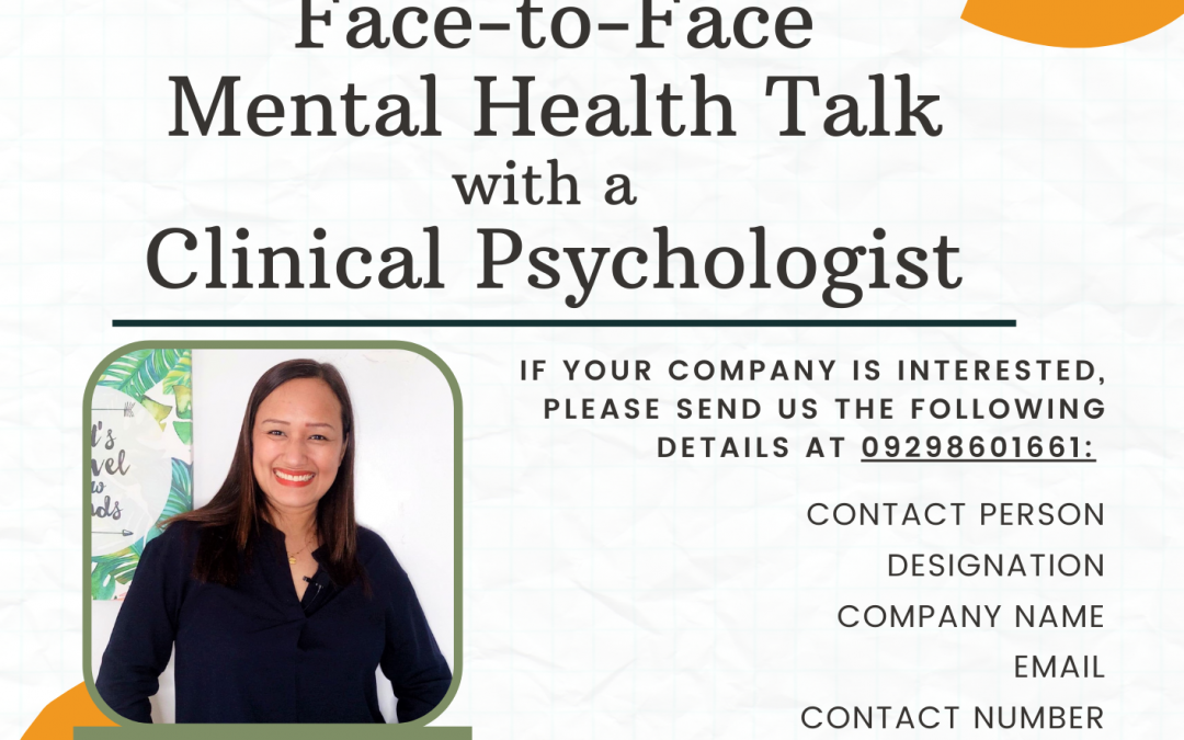 FREE 1-HOUR FACE-TO-FACE MENTAL HEALTH TALK